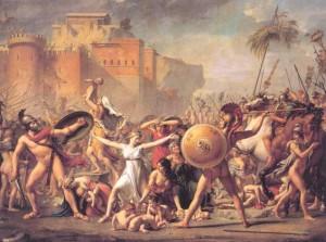 Jacques Louis David. Sabinių pagrobimas.1799