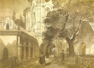Taras Ševčenko. Visų šventųjų bažnyčia Kijeve Pečorų lauroje. 1846