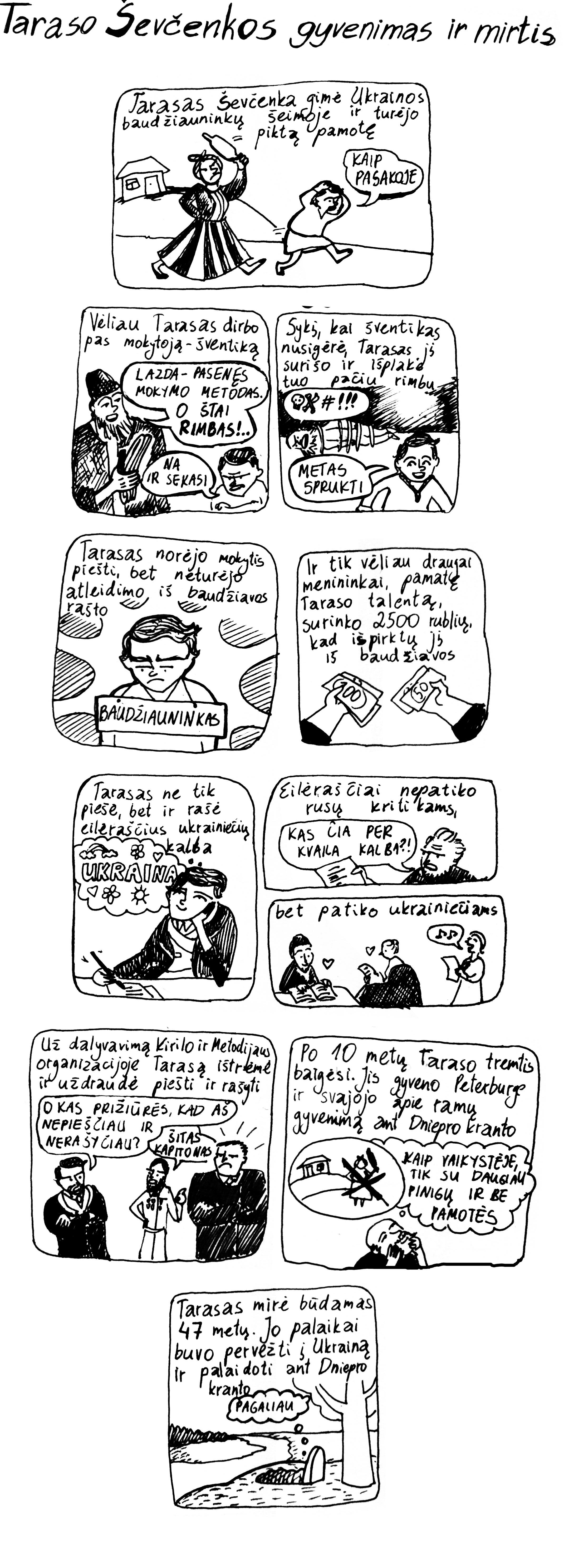 Miglės Anušauskaites komiksas