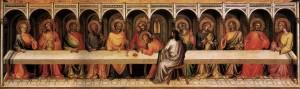 Lorenzo Monaco. Paskutinė  vakarienė. 1394-1395