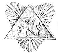 Dievo apvaizdos akis. Iš: Paulius Galaunė, Lietuvių liaudies menas, Kaunas, 1930