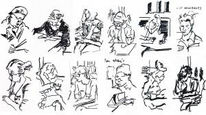 Gilles Vuillard. Skaitantys žmonės knygyne. Niujorkas. 2012