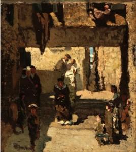 Telemaco Signorini. Žydų kvartalas Venecijoje. Apie 1860