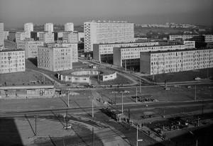 Krokuvos rajonas Nova Huta. 1969. Zbigniewo Staszyszyno nuotrauka
