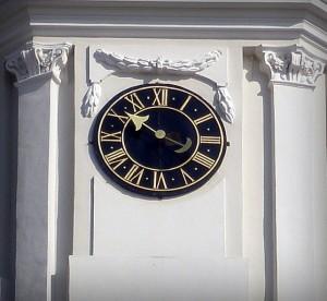 Vilniaus katedros varpinės laikrodis. Autoriaus nuotrauka