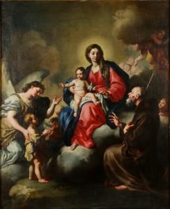 Francesco Solimena. Švč. Mergelė Marija su Kūdikėliu, arkangelu Rapolu ir šv. Pranciškumi
