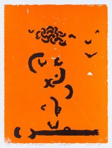 Linas Katinas. Mergelė. 1979. Cinkografija. Vytauto Balčyčio reprodukcija