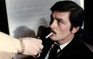 """Kadras iš filmo """"Raudonasis ratas"""" (rež. Jean-Pierre Mellvile, 1970)"""