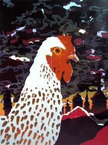 Aistė Papartytė. Gyvūnų portretai. Gaidys. 2010