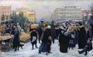Henrich Manizer (1847–1925). Eglučių turgus