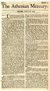 """""""Atėnų pasiuntinys"""", 1693 m. vasario 28 d. numeris"""