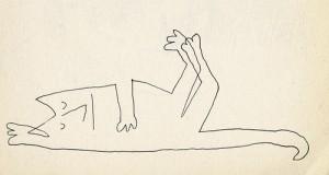 Saul Steinberg. Mieganti katė