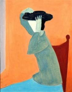 Milton Avery. Moteris su skrybėle. 1945