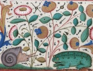 Piešinys iš rankraščio. Prancūzija, XV a.
