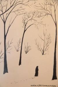 Natalija Gončiarova. Žiemos peizažas