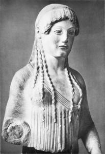 Kora (fragmentas). V a. pr. Kr., Graikija