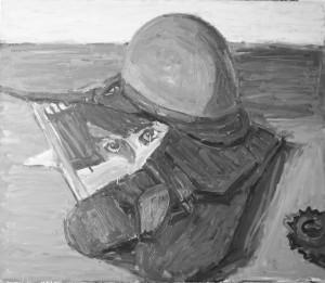 Darius Misiūnas. Natiurmortas su žaliu šalmu. 2015