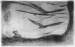 Alfred Kubin. Persekiojamasis. 1902–1903