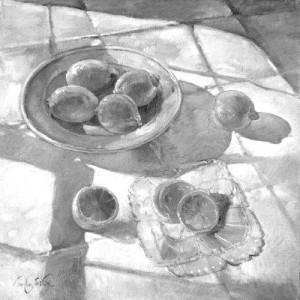 Timothy Easton. Mažas dubuo su citrinomis. 2010