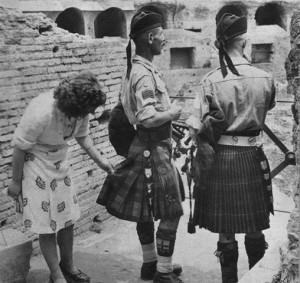 Škotų kareiviai Italijoje. 1944