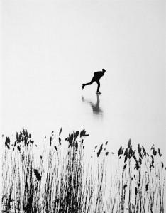 Aart Klein. Čiuožėjas. Olandija. Apie 1970