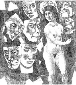 Pavel Zalcman, Kaukės ir moteris