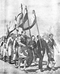 """Jurginės – jaunųjų ūkininkų metinė šventė (""""Jaunasis ūkininkas"""", 1940, Nr. 14)"""