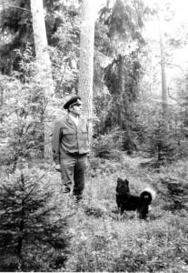 Valis Girdžiūnas Dunikos miške.1985
