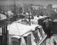 Gustave Caillebotte. Apsnigti Paryžiaus stogai. 1878