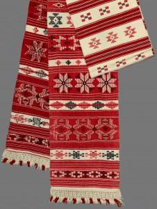 Tradicinis baltarusiškas rankšluostis. Krasnapolės apylinkės