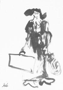 Marc-Édouard Nabe. Simona su lagaminu. 1989