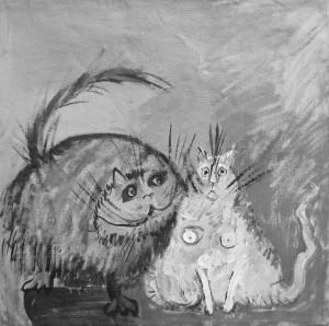 Benamiai (kol kas) Šiaurės Atėnų katinai... Martos Vosyliūtės piešinys