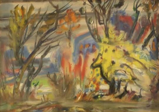 Adomas Galdikas. Pasislėpusio gyvuliuko abstrakcija. Iš Rasos Adams kolekcijos