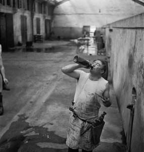 Abattoirs de Vaugirard. Geriantis mėsininkas. 1950
