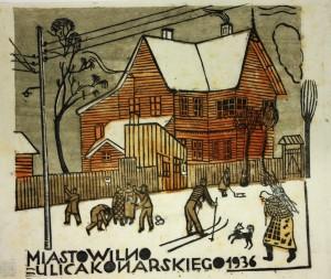 Olga Żukowska. Konarskio gatvė. 1936. Iš VDA muziejaus rinkinių