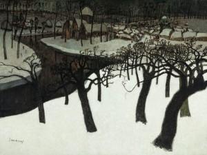 Albert Saverys. Žiema Flandrijoje. 1920
