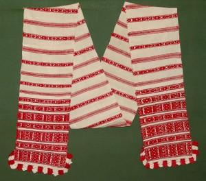Tradicinis baltarusių rankšluostis. Каlinkavičų r., Baltarusija