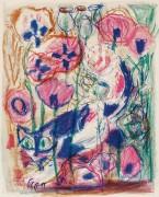 Otto Dix. Katė aguonų lauke. 1968