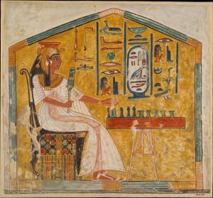 Nefertarė, Ramzio II žmona, žaidžianti senetą
