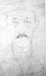 Vilniaus dailės instituto studento Petro Repšio praktikos piešinys. 1960–1967. M. P. Vilučio kolekcija