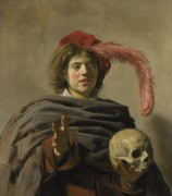 Frans Hals. Jaunas vyras su kaukole. 1626–1628