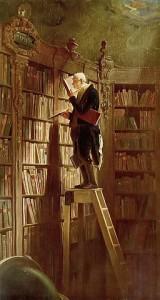 Carl Spitzweg. Knygų utėlė. 1950