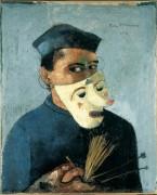 Felix Nussbaum. Autoportretas su kauke. 1928