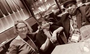 Eglutė Trinkauskaitė, Lisa Poirier ir profesorius Charlesas H. Longas Amerikos religijos akademijos konferencijoje. San Diegas, JAV. 2019. Asmeninio archyvo nuotrauka