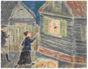 Sam Rothbort. Bundistė Itka daužo langus. XX a. 4–5 deš.