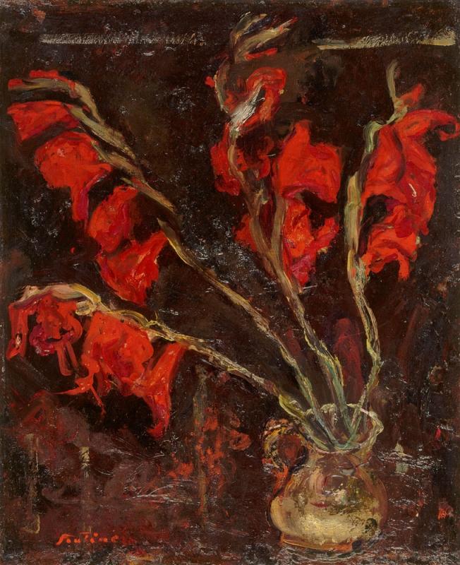 Chaïm Soutine. Gladiolės. 1919