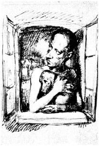 Bruno Schulz. Sūnėno Ludwiko Hoffmano portretas (metai nežinomi)