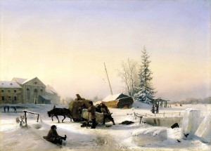 Lev Lagorio. Ledo gabenimas. 1849
