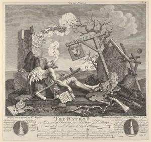 1764 metų Williamo Hogartho graviūroje vaizduojamas Tėvas Laikas