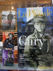 """Paryžius, """"Gallimard"""" knygyno Raspail'aus bulvare vitrina. Autoriaus nuotrauka"""